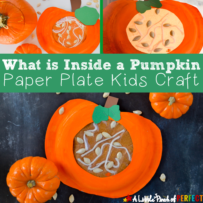 Learning about what\u0027s Inside a Pumpkin Paper Plate Kids Craft Kids can craft and learn & Learning about what\u0027s Inside a Pumpkin Paper Plate Kids Craft ...