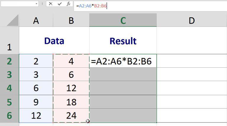 How Excel Multi-Cell Array Formulas Work - excel spreadsheet formulas