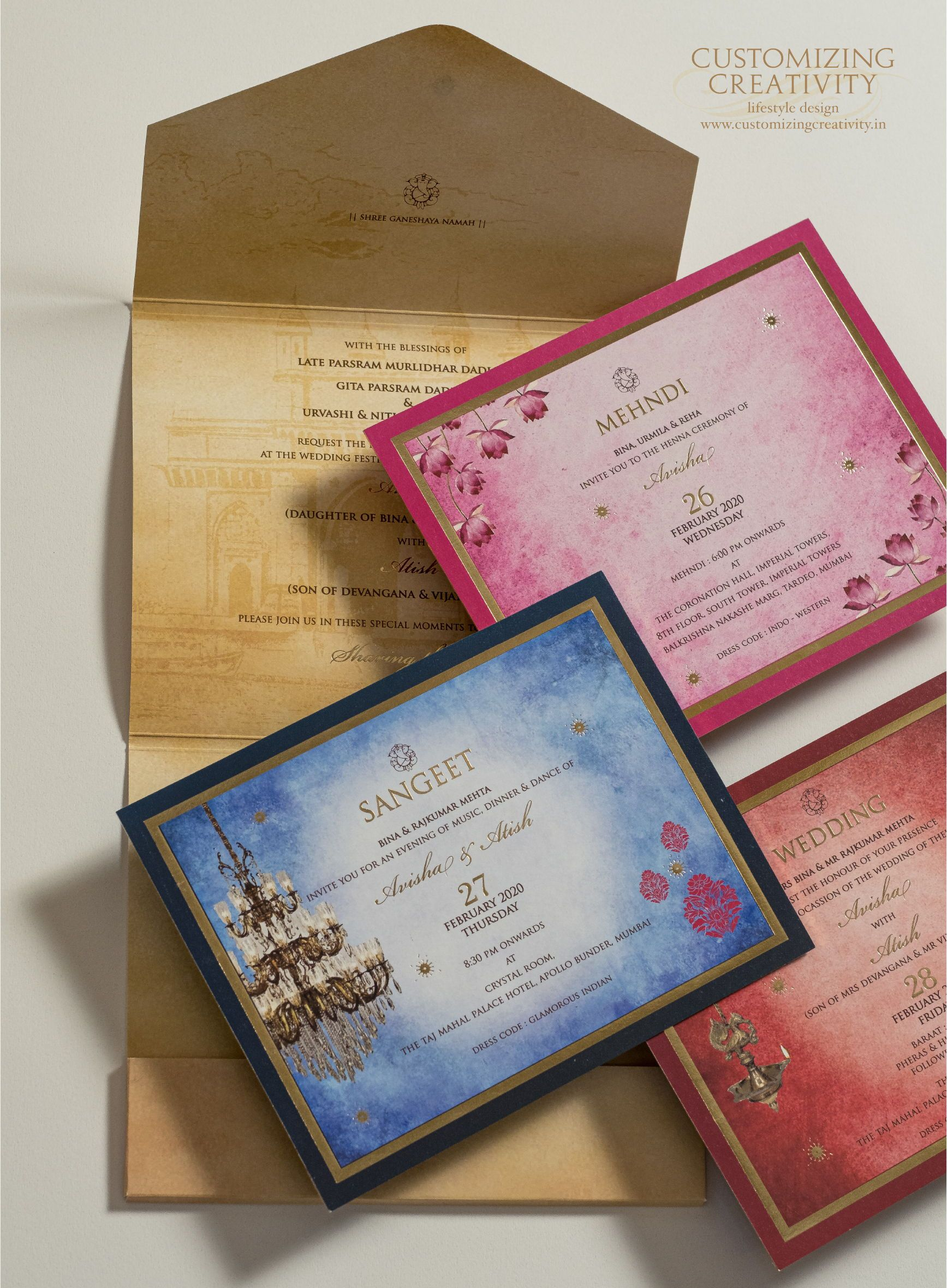 Unique Creative Wedding Cards Invitations Ideas With Gold Foil Indian Vintage Boho Indian In Unique Wedding Cards Wedding Card Diy Wedding Invitation Cards