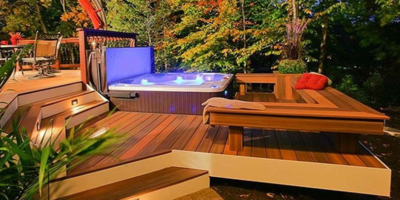 jacuzzi exterior 2 buscar con google jacuzzi pinterest Deck Design with Hot Tub