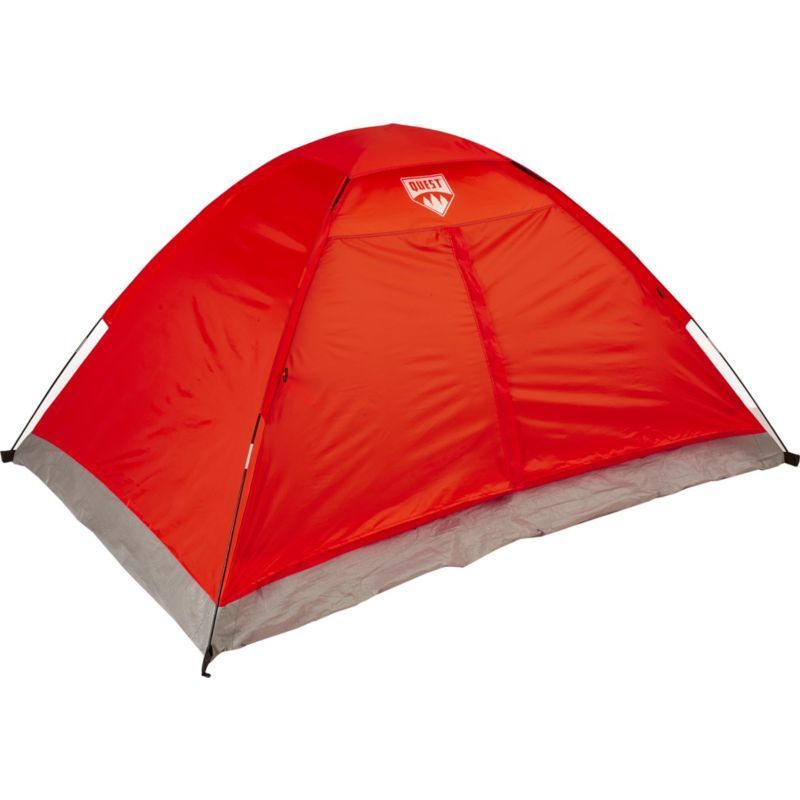 Quest 2 Person Dome Tent Red With Images Tent Dome Tent Backyard Camping