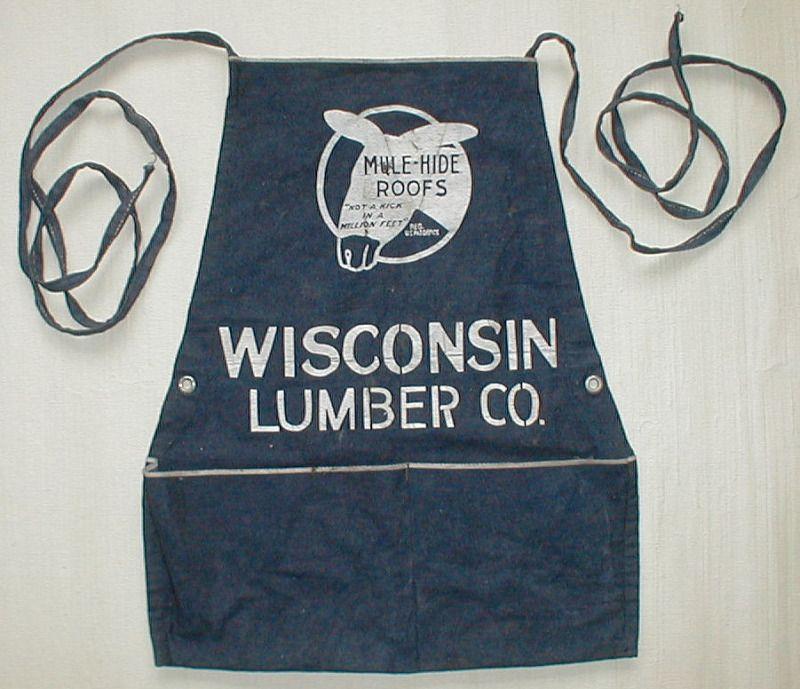 Vintage denim apron.  Super cool.