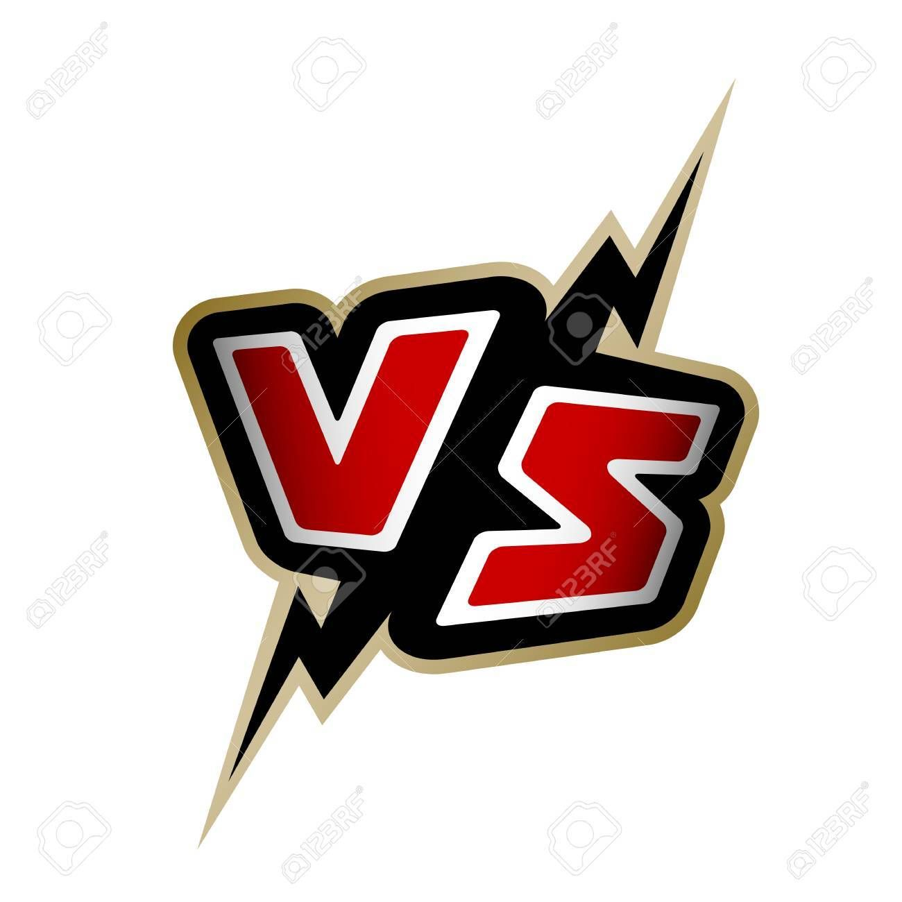 Versus Letters Vs Logo Vector Illustration On A White Background Royalty Free Cliparts Vectors And Stock Vs Logo Illustrator Inspiration Vector Illustration