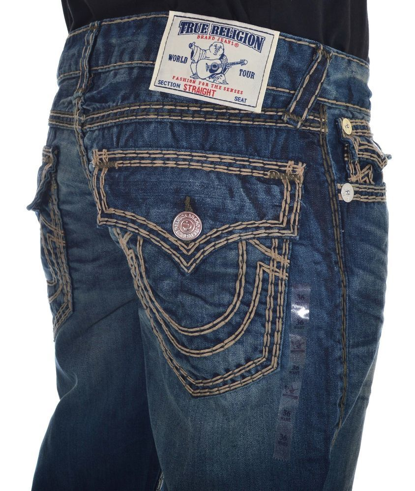 9603e952ae055 True Religion Mens Jeans Size 36 Straight W Flap super QT Chopper NWT $400 # TrueReligion #ClassicStraightLeg