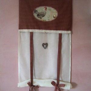 rideau brise bise style campagne motif poule rideau. Black Bedroom Furniture Sets. Home Design Ideas