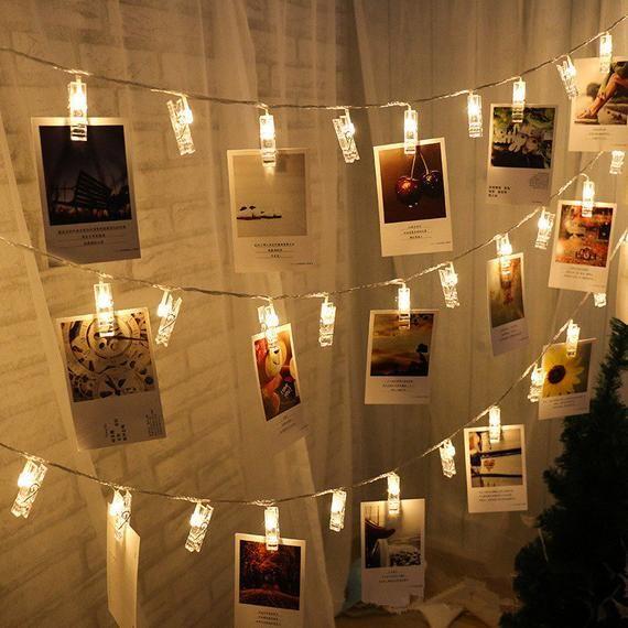 1 M 10 Lamp Photo Clip Led Battery Box Led Strip Light Wedding Etsy In 2021 Lights Wedding Decor Led Christmas Lights Outdoor Fairy Lights