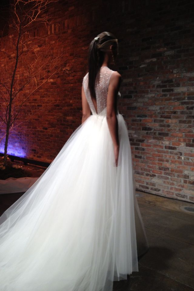 Tulle + crystals...a picture perfect pair!   #WeddingDress #WeddingFashion