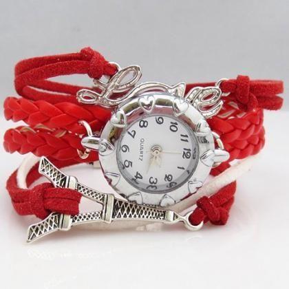 Red Paris Charmed Bracelet