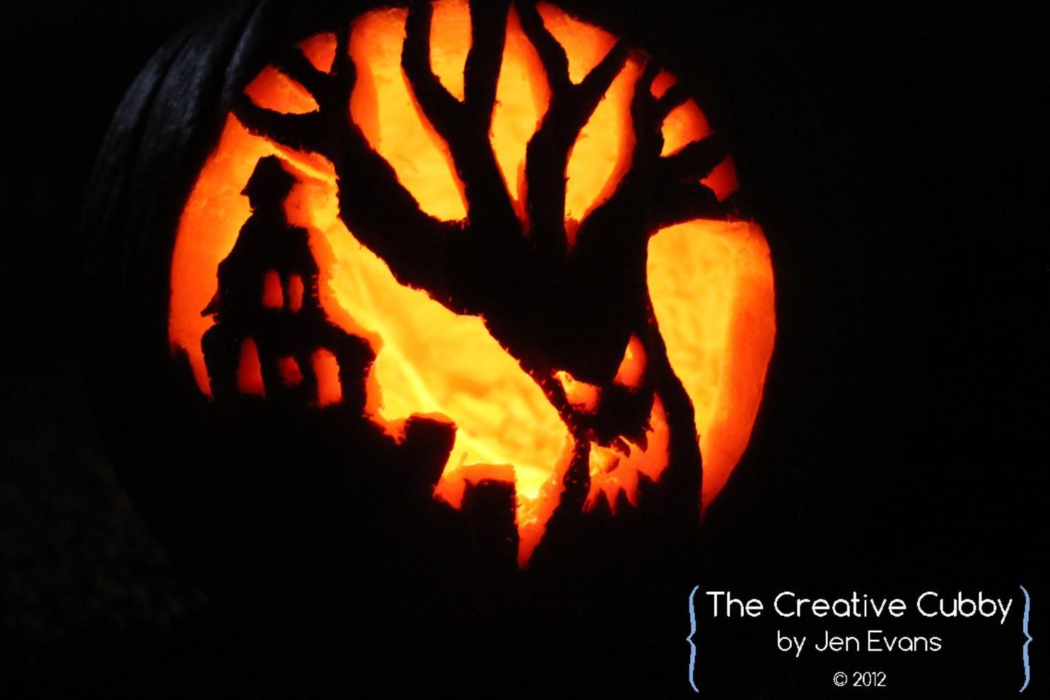 Scary Tree Pumpkin   halloween   Pinterest   Backgrounds, Scary ...
