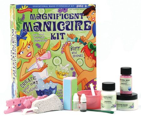 Scientific explorer magnificent manicure kit by poof slinky inc scientific explorer magnificent manicure kit and over other quality toys at fat brain toys young ladies will learn all about cosmetic chemistry as they solutioingenieria Gallery