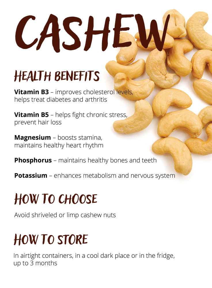 Cashew Cashew health benefits, Nutrition, Food facts