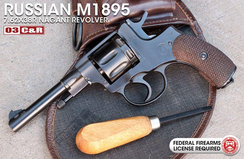 Russian M1895 7 62x38R Nagant Revolver: Russian model 1895 7 62x38R