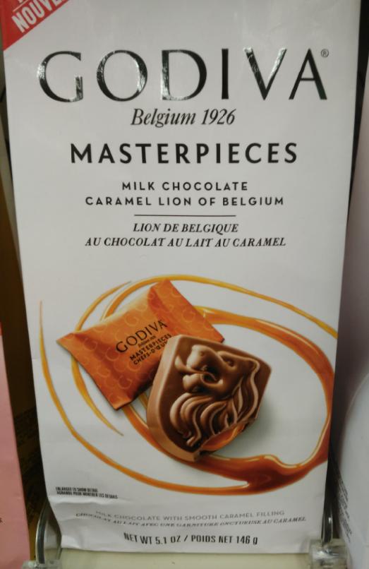 Godiva Milk Chocolate Caramel Lion Of Belgium