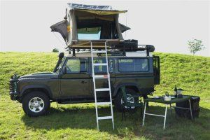 Land Rover Defender 110 Station Wagon Camper With Roof Tents Land Rover Defender Defender Camper Land Rover