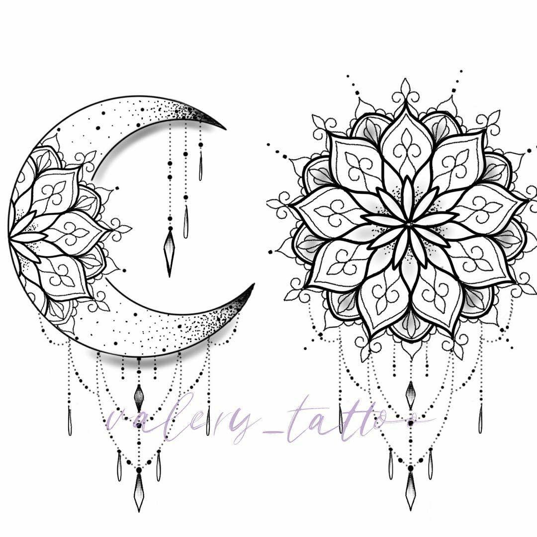Pin By Sally M On Amazing Body Art Moon Tattoo Designs Mandala Tattoo Design Moon Tattoo
