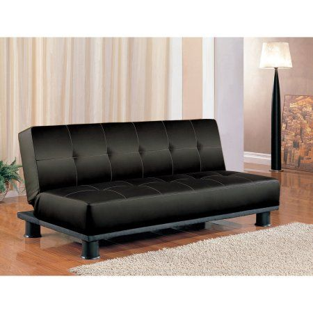 Phenomenal Standard Transitional Leatherette Sofa Bed Black Products Caraccident5 Cool Chair Designs And Ideas Caraccident5Info