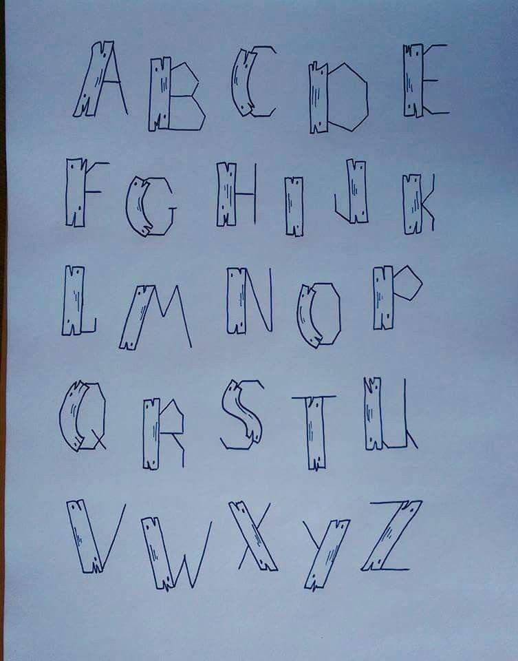 pinnicole freeze on doodle | alfabet, lettertypes, sierletters