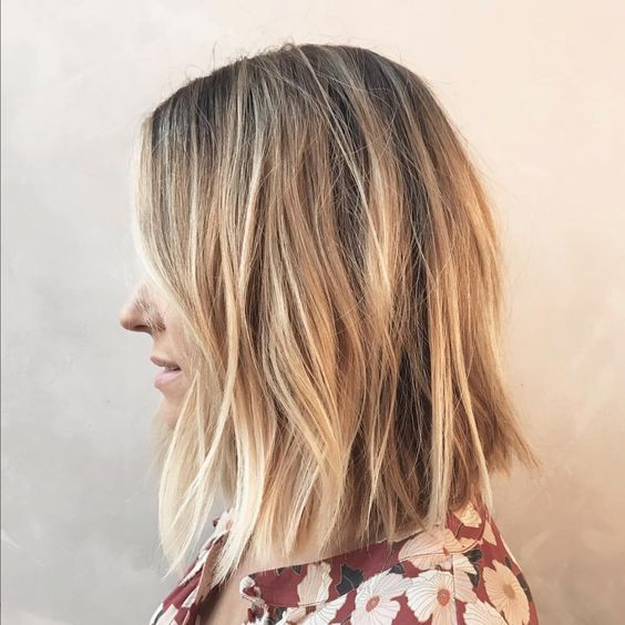 Fun And Flattering Medium Hairstyles For Thick Hair Women Shoulder Length Haircut Hair Styles Thick Hair Styles Lauren Conrad Hair
