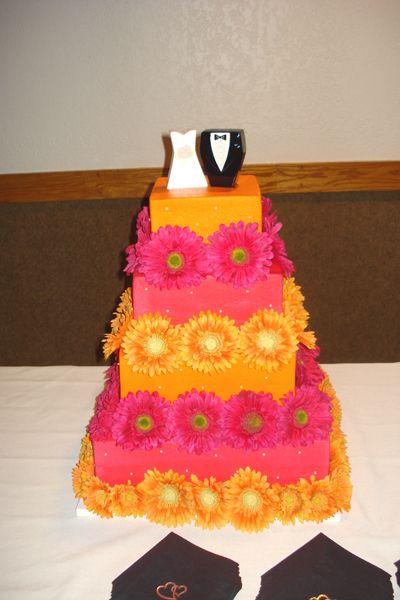 Italian Wedding Cakes On Ideas Orange And Pink Square Cake