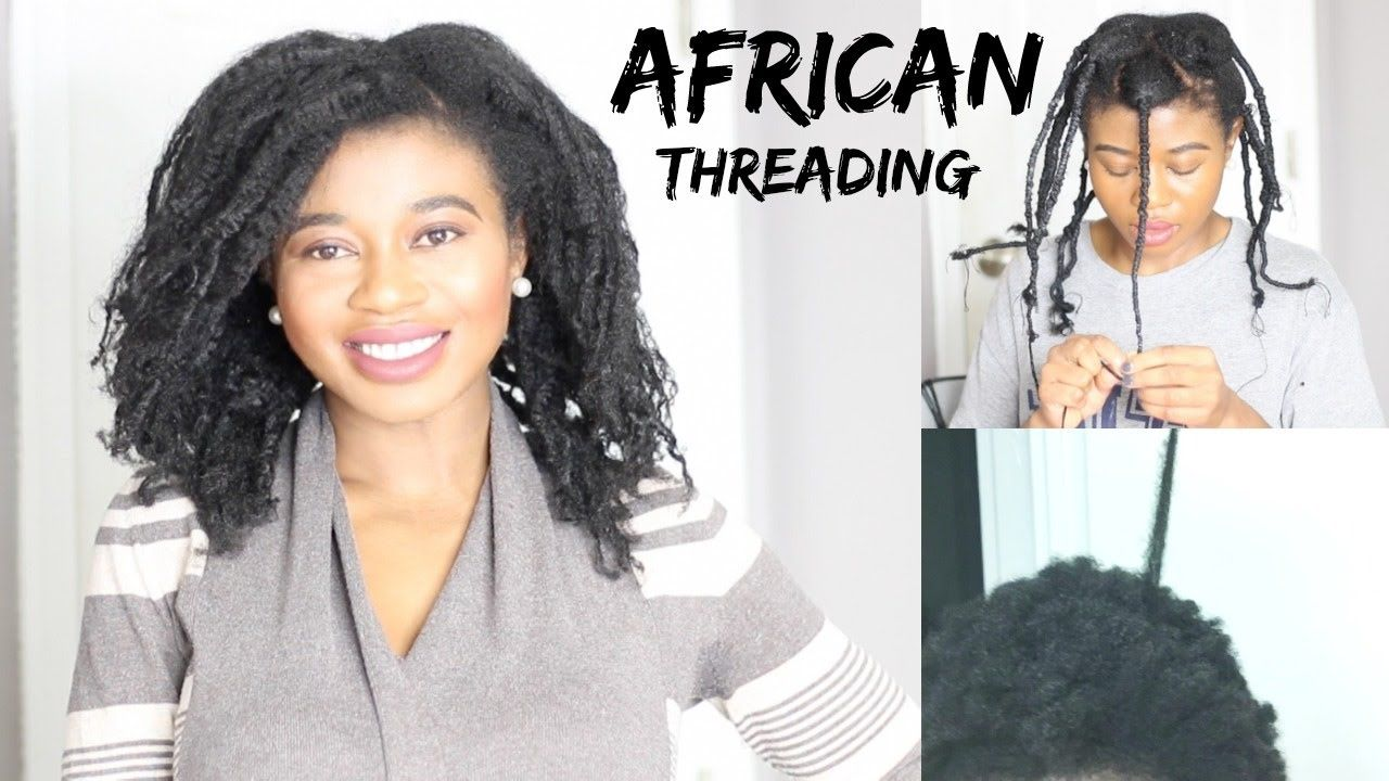 How To Stretch 4c Hair Without Heat African Threading Jacinta Nwabuogu African Threading Natural Hair Styles Hair Without Heat