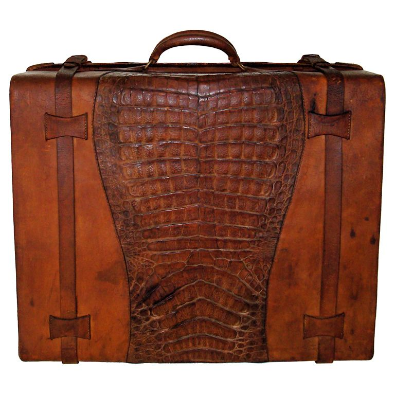Alligator and Leather Suitcase from Nicaragua