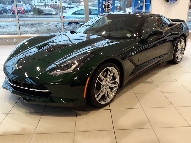 2014 C7 Corvette Stingray - Lime Rock Green (Customer: Dennis B ...