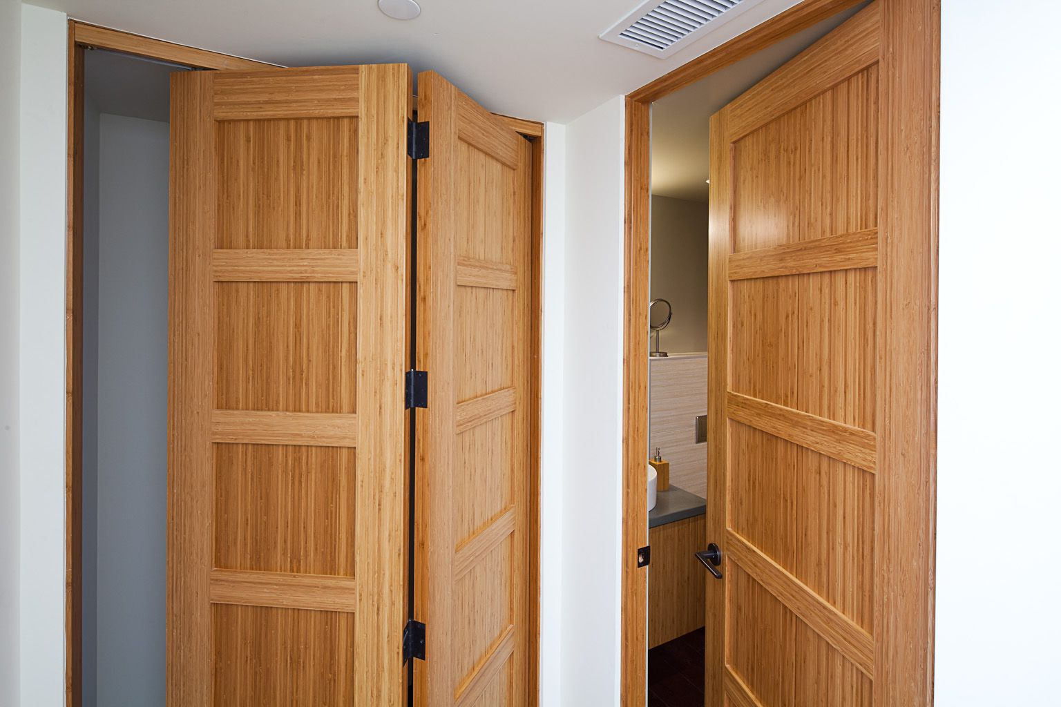 This Is A Bamboo Door That Uses A Stile And Rail Construction With