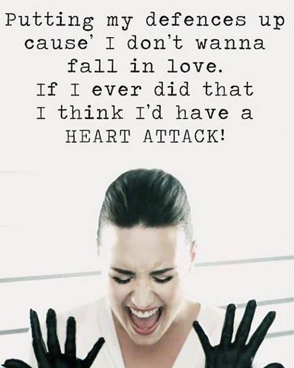 Demilovato Lovaticnote Lovatics Http Ift Tt 2erau6k Demi Lovato Lyrics Demi Lovato Heart Attack Demi Lovato Quotes