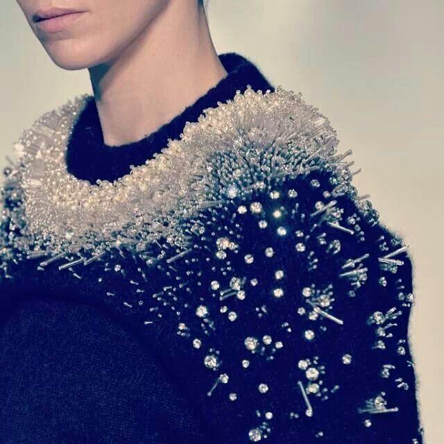 Heavy embellishment porcupine-texture-surface design -frosting