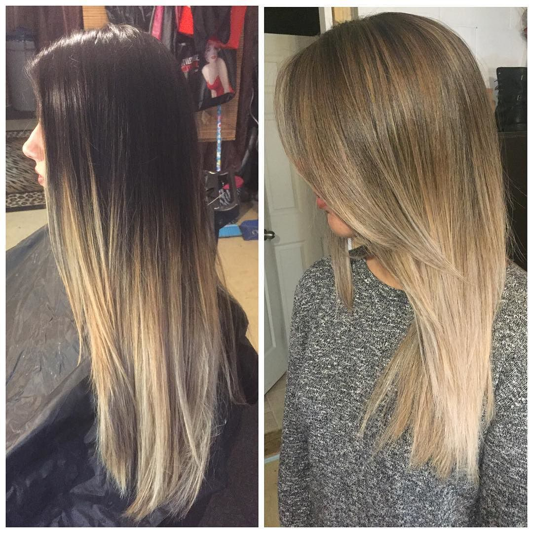Tamara Hairstylist On Instagram When Clients Let Their Hair Grow Out For 6 Months Blen Blonde Hair For Brunettes Blonde Balayage Mid Length Boliage Hair