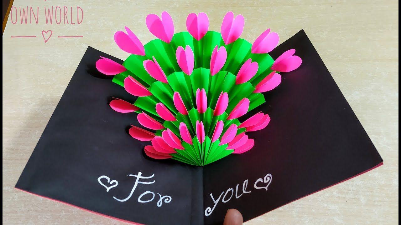Easy beautiful handmade valentines day card idea diy