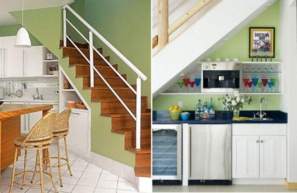 Connu Idée d'aménagement de l'espace sous un escalier : la cuisine | ev  CZ66