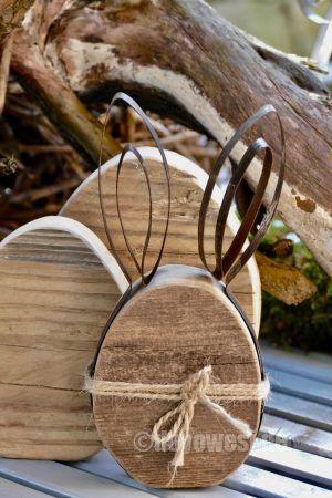 Photo of Huevos de Pascua rústicos de madera con orejas de banda de acero – Karin Urban – NaturalSTyle