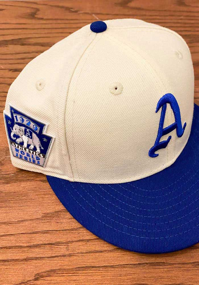 New Era Philadelphia Athletics Mens White 1929 World Series Side Patch 59fifty Fitted Hat Philadelphia Athletics Fitted Hats New Era
