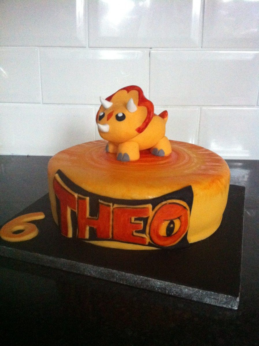 Dinosaur King cake chomp dino rey Pinterest Cake Birthdays