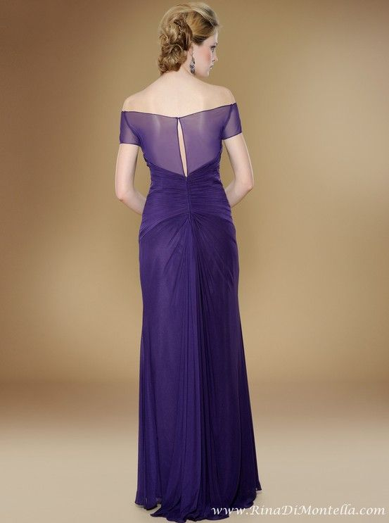 Mother of the bride dress by Rina Di Montella, back, style 1745 ...