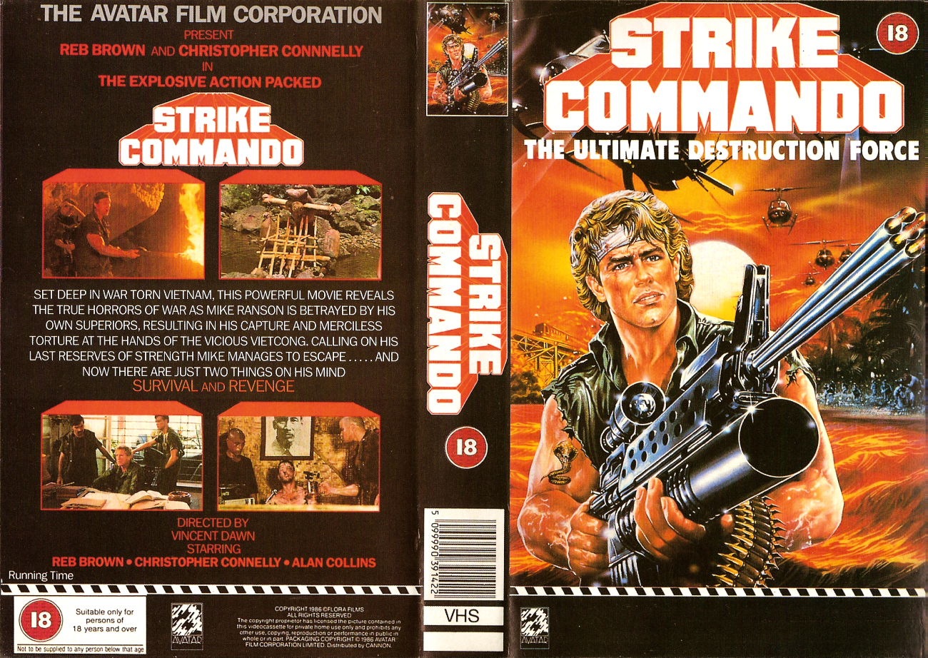 Strike Commando (1987) VHS
