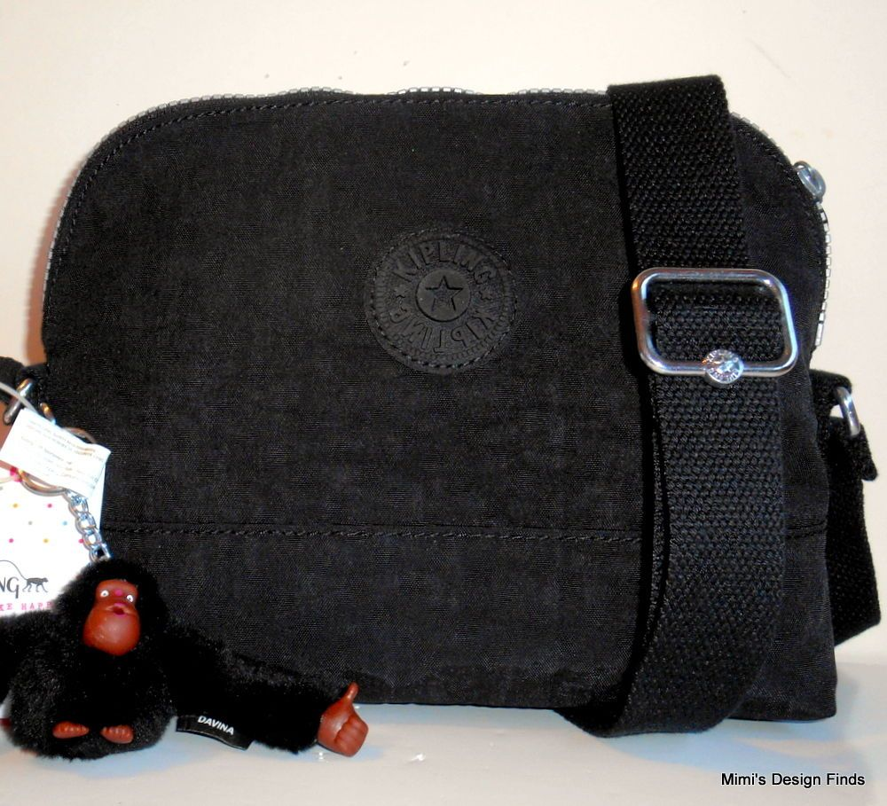 KIPLING BESS Crossbody Bag  NEW  Black Nylon HB7041 DAMAGED Adj Strap NWT   Kipling  MessengerCrossBody 53973adc18c64