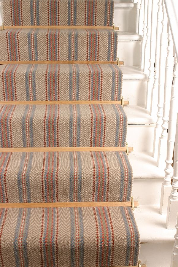 Awesome Tudor Stair Carpet Rods In Light Wood For Runners