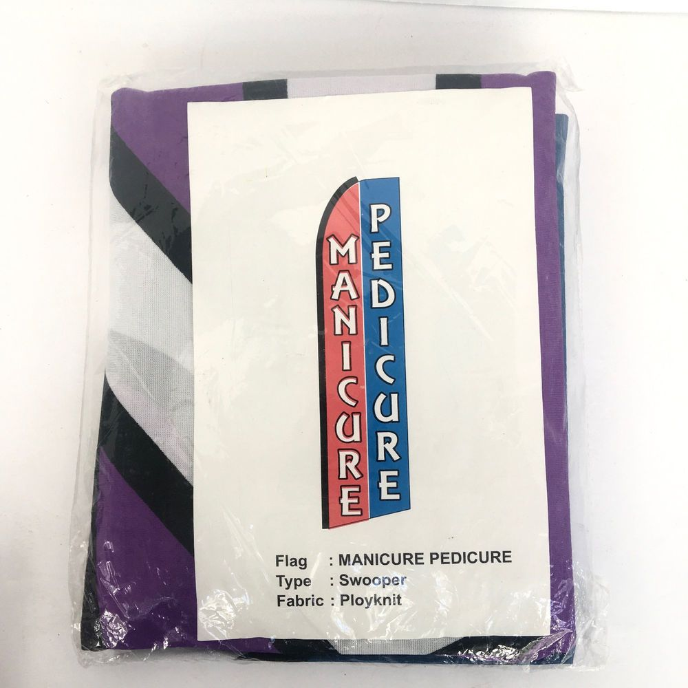 Manicure Pedicure Vertical Banner Sign Advertising Flutter Swooper Flag  #UnbrandedGeneric