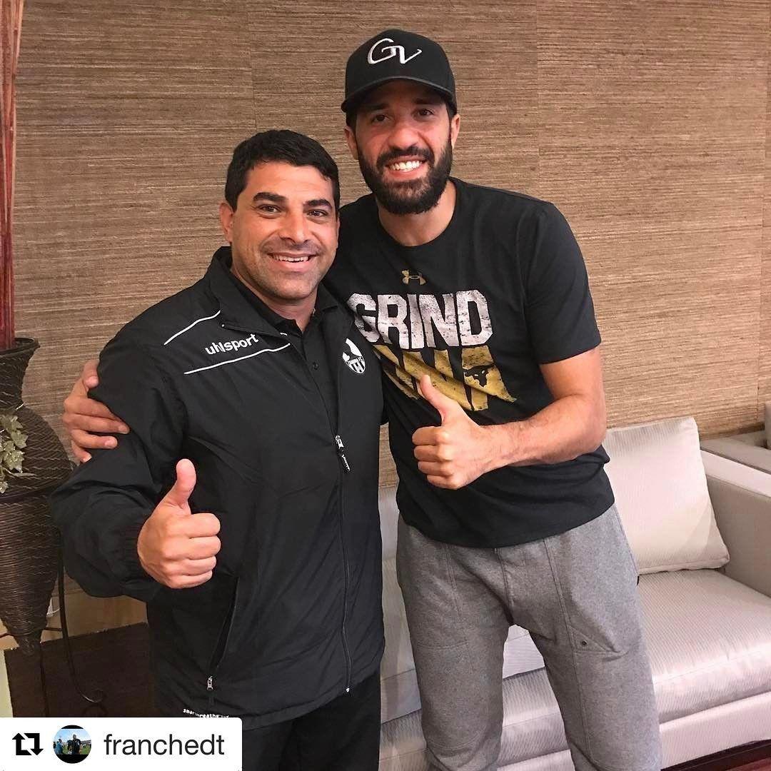 #Repost @franchedt with @repostapp ・・・ Con el gran NBA @greivisvasquez , gran amigo y persona ⚽️🏀