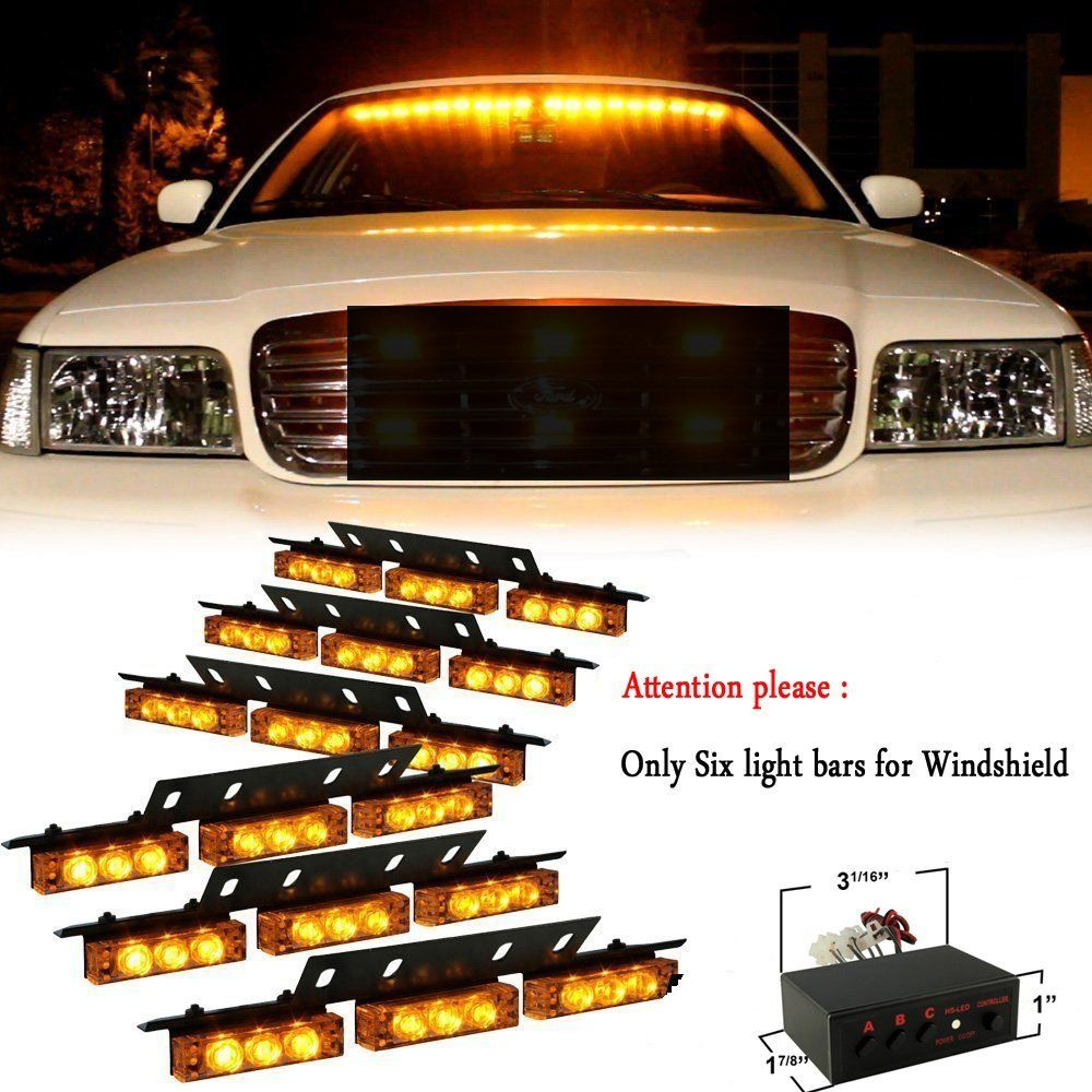 Amazon nilight amber 54 x ultra bright led emergency warning nilighttm 54 led amber emergency vehicle strobe lightslightbars for windshield high quality aloadofball Gallery