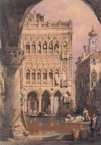 Samuel Prout - C'a d'Oro à Venise