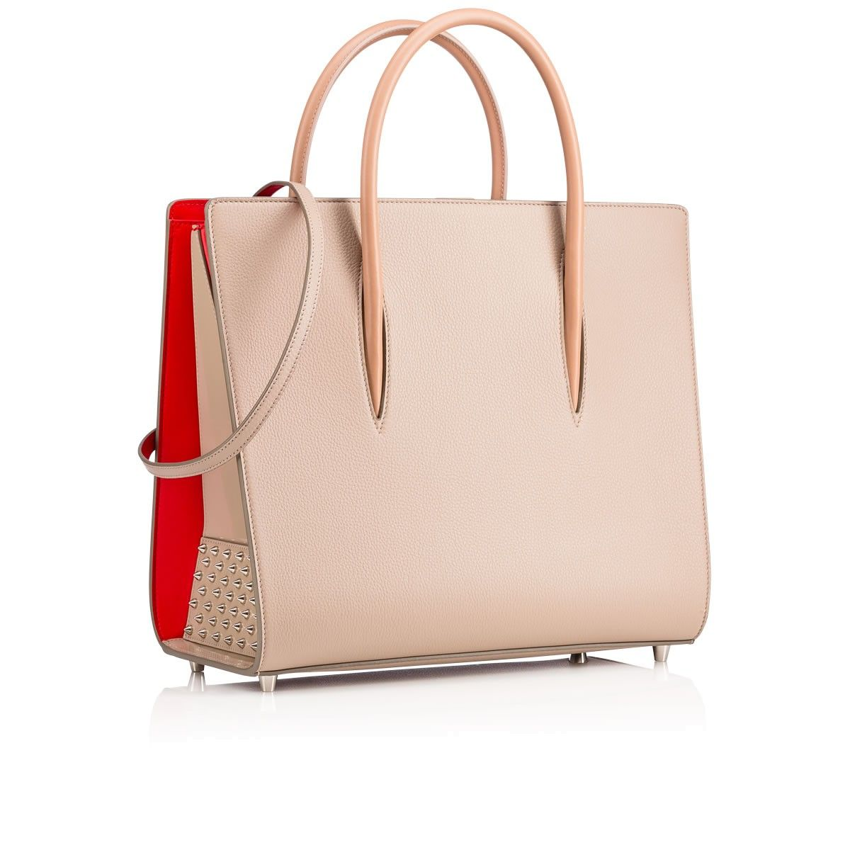 Paloma Large Spiked Leather Tote - Beige Christian Louboutin 1aeD8ML2rp