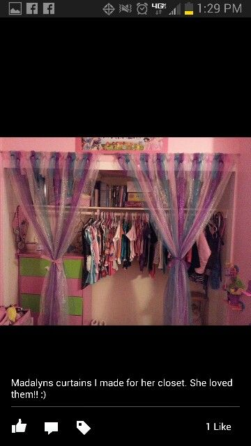 Home Made Tutu Curtains In Place Of Closet Doors Open Mikayla