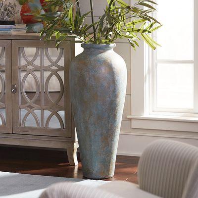 Blue Amp Green Patina Urn Floor Vase Decor Tall Vases