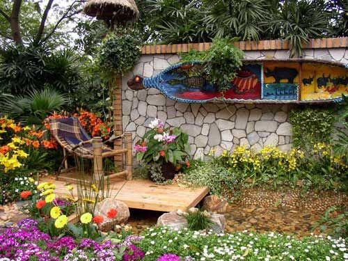 Jardines rusticos dise o de jardines casas de campo for Jardines disenos rusticos