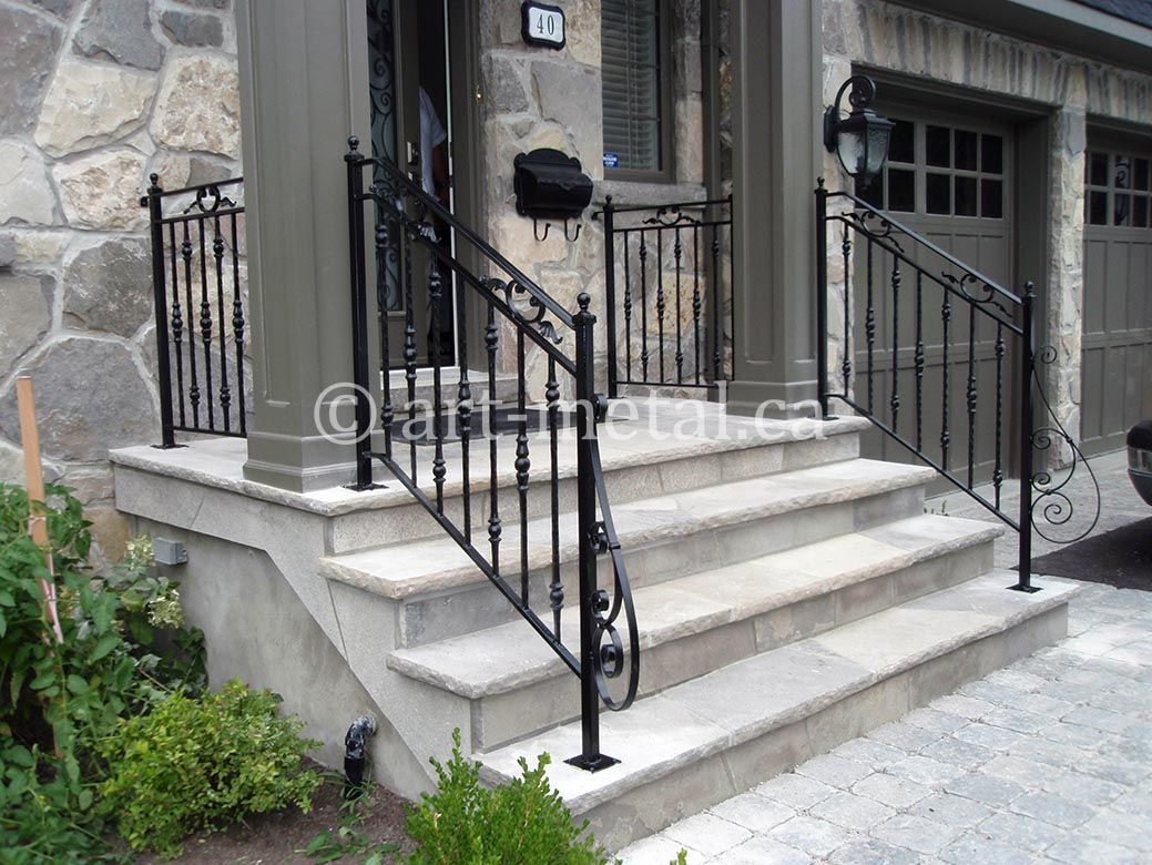 Best exterior wrought iron stair railings you can get in