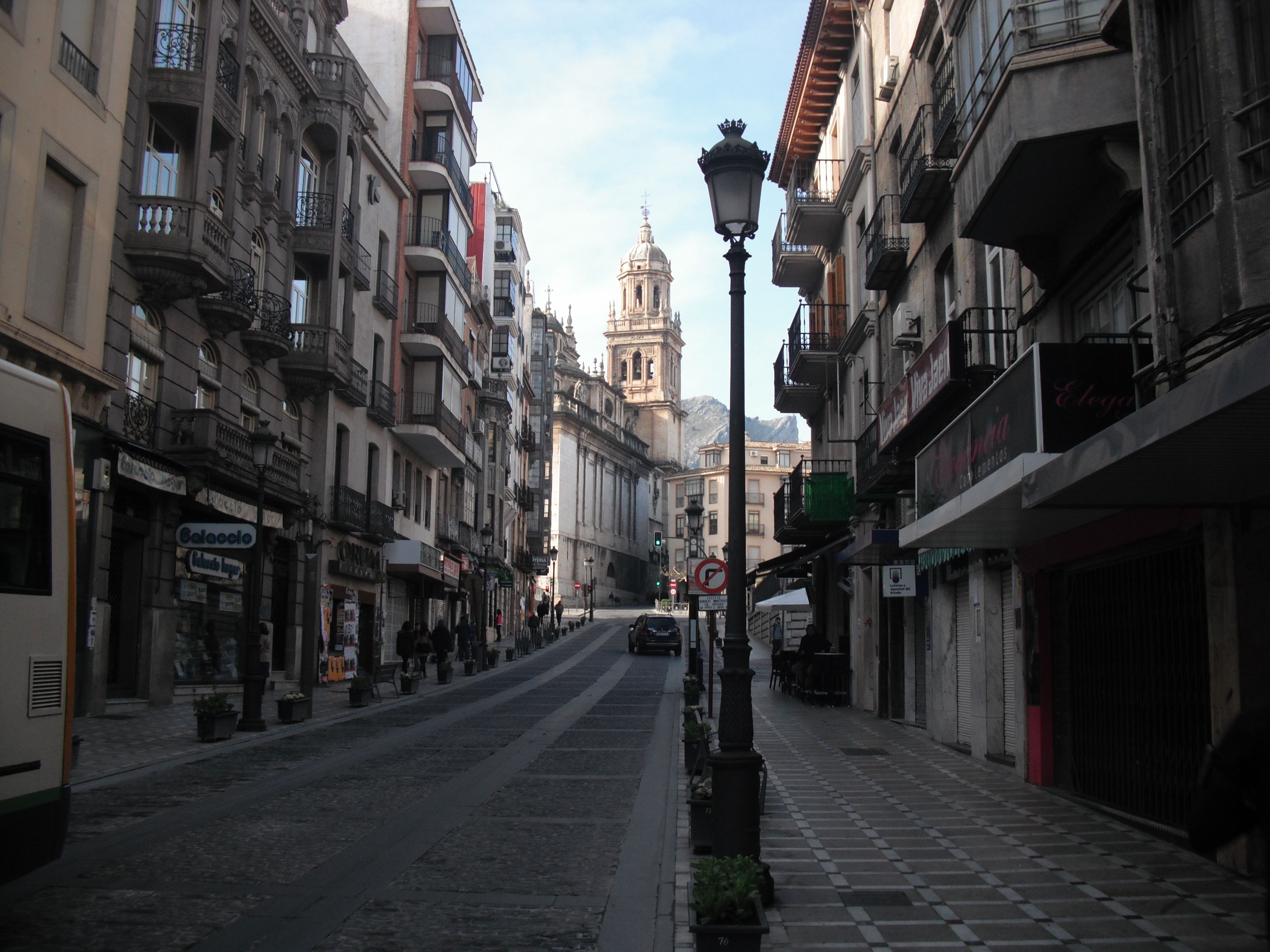 panorámica trasera de la Catedral de Jaén