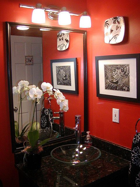 I have the red paint just need ideas for my powder room - What you need to paint a room ...